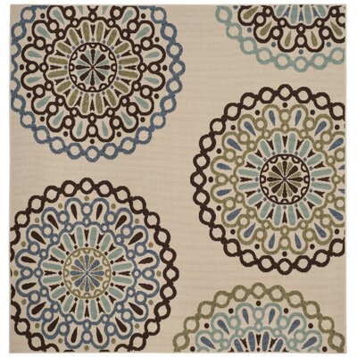 Henderson Beige Indoor/Outdoor Area Rug Rug Size: Square 67