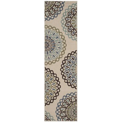 Henderson Beige Indoor/Outdoor Area Rug Rug Size: Runner 23 x 8