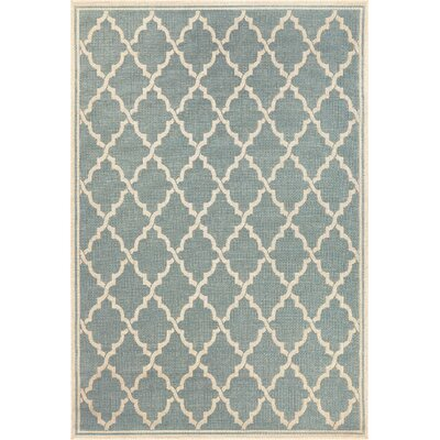 Cardwell Ocean Port Light Turquoise Indoor/Outdoor Area Rug Rug Size: 39 x 55
