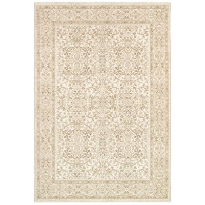 Almira Champagne Area Rug Rug Size: 66 x 96