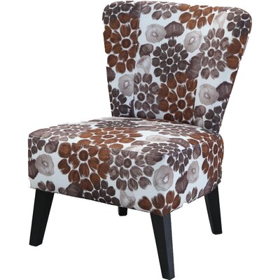 Briscoe Slipper Chair Upholstery: Brown Flower