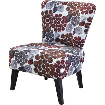 Briscoe Floral Slipper Chair Upholstery: Red Flower
