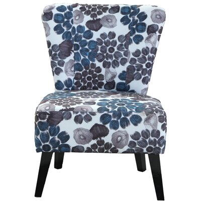 Briscoe Floral Slipper Chair Upholstery: Blue Flower