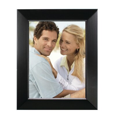 Rectangle Solid Wood Picture Frame Color: Black, Size: 6