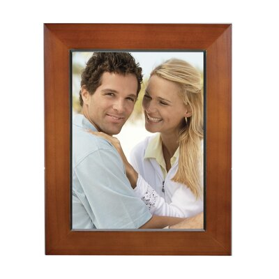 Rectangle Solid Wood Picture Frame Color: Walnut, Size: 6