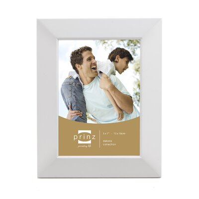 Rectangle Solid Wood Picture Frame Color: White, Size: 5