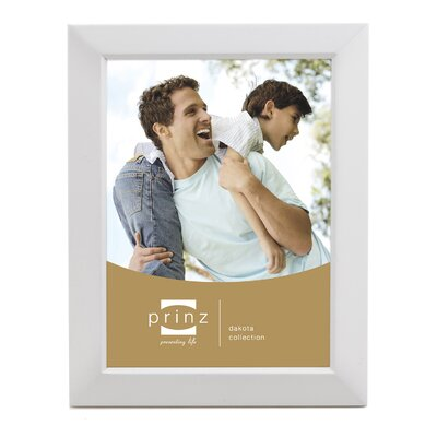 Rectangle Solid Wood Picture Frame Color: White, Size: 8