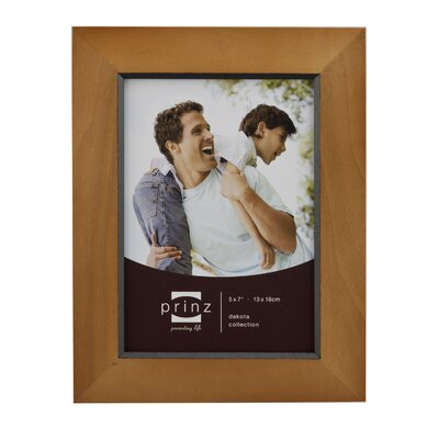 Rectangle Solid Wood Picture Frame Color: Chestnut, Size: 5