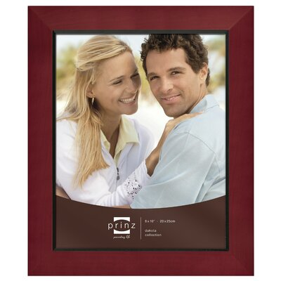 Rectangle Solid Wood Picture Frame Color: Burgundy, Size: 8
