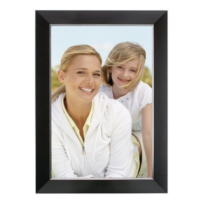 Rectangle Solid Wood Picture Frame Color: Black, Size: 8