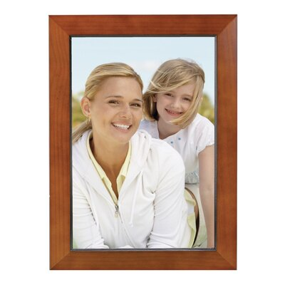 Rectangle Solid Wood Picture Frame Color: Walnut, Size: 8