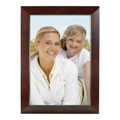 Rectangle Solid Wood Picture Frame Color: Dark Walnut, Size: 8