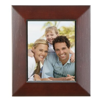 Rectangle Solid Wood Picture Frame Color: Dark Walnut, Size: 4