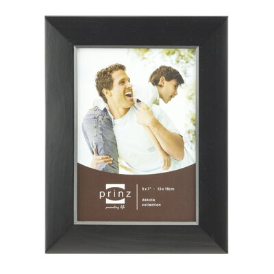 Rectangle Solid Wood Picture Frame Color: Black, Size: 5