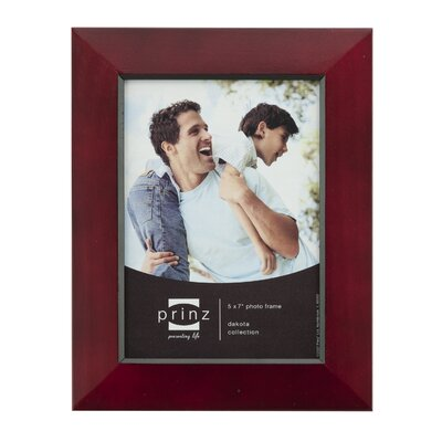 Rectangle Solid Wood Picture Frame Color: Burgundy, Size: 5