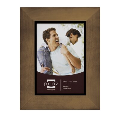 Rectangle Solid Wood Picture Frame Color: Walnut, Size: 5