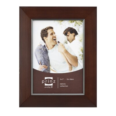 Rectangle Solid Wood Picture Frame Color: Dark Walnut, Size: 5