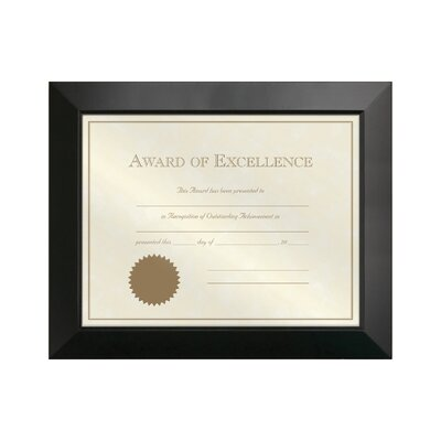 Rectangle Solid Wood Picture Frame Color: Black, Size: 8.5