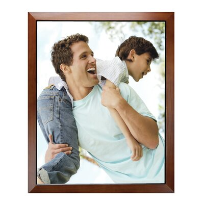Rectangle Solid Wood Picture Frame Color: Walnut, Size: 16
