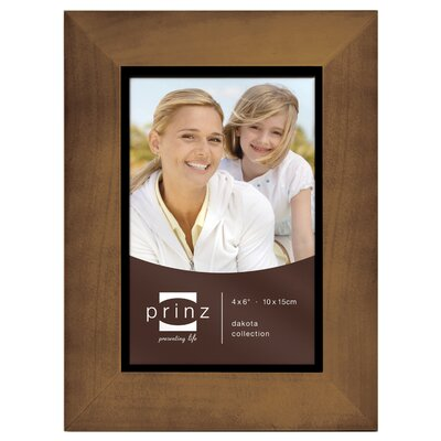Rectangle Solid Wood Picture Frame Color: Walnut, Size: 4