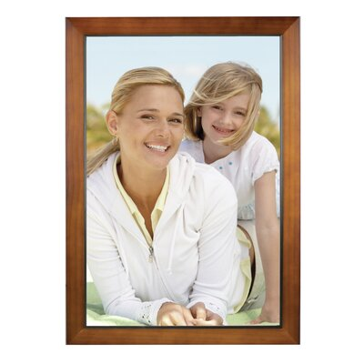 Rectangle Solid Wood Picture Frame Color: Walnut, Size: 12