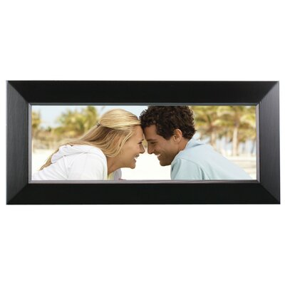 Rectangle Solid Wood Picture Frame Color: Black, Size: 11.5