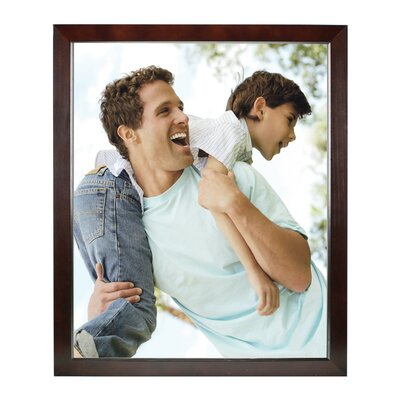 Rectangle Solid Wood Picture Frame Color: Dark Walnut, Size: 16
