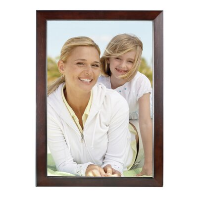 Rectangle Solid Wood Picture Frame Color: Dark Walnut, Size: 12