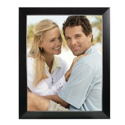 Rectangle Solid Wood Picture Frame Color: Black, Size: 11