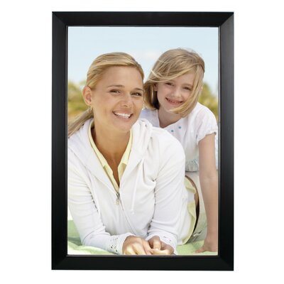 Rectangle Solid Wood Picture Frame Color: Black, Size: 12