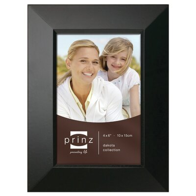 Rectangle Solid Wood Picture Frame Color: Black, Size: 4