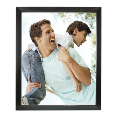 Rectangle Solid Wood Picture Frame Color: Black, Size: 16