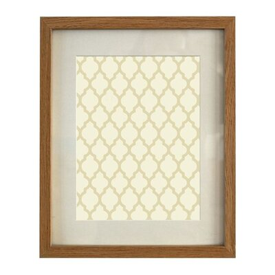 Wood Picture Frame Color: Oak, Size: 5