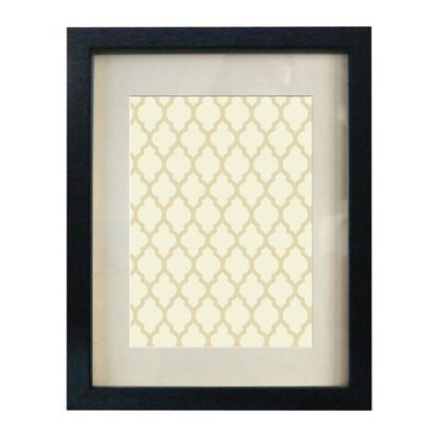 Wood Picture Frame Color: Black, Size: 5
