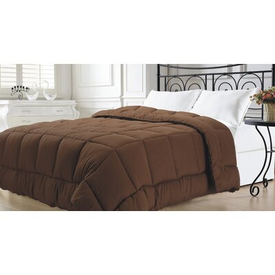 Broncho Goose Down Alternative Comforter Color: Chocolate, Size: Full/Queen