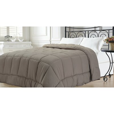 Broncho Goose Down Alternative Comforter Color: Taupe, Size: King