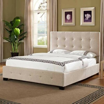 Haynesville Upholstered Panel Bed Size: King, Upholstery: Red