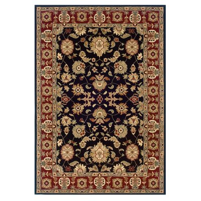 Rowena Persian Black/Red Area Rug Rug Size: 51 x 75
