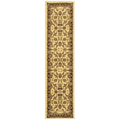 Rowena Persian Cream/Brown Area Rug Rug Size: Runner 110 x 69