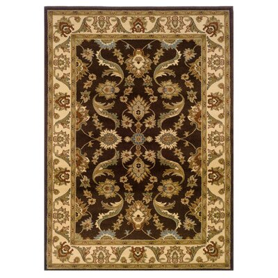 Rowena Persian Brown/Cream Area Rug Rug Size: 110 x 31