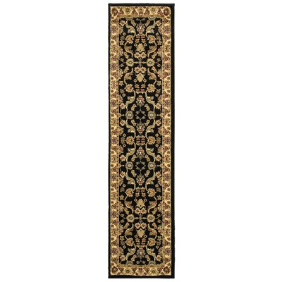 Rowena Persian Black/Cream Area Rug Rug Size: Runner 11 x 69