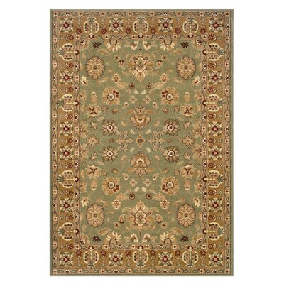 Rowena Persian Green/Gold Area Rug Rug Size: 110 x 31