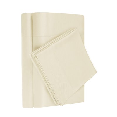 Gobert Flannel Sheet Set Color: Ivory, Size: Queen