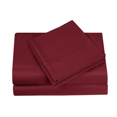Gobert Flannel Sheet Set Color: Wine, Size: Twin