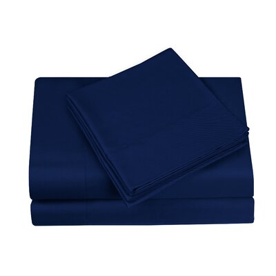 Gobert Sheet Set Color: Navy, Size: Queen