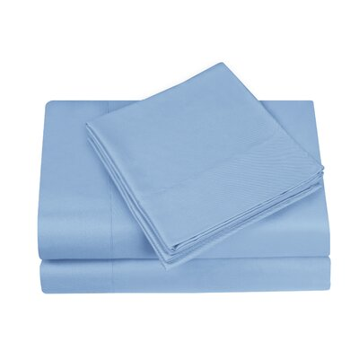 Gobert Flannel Sheet Set Color: Blue, Size: Twin