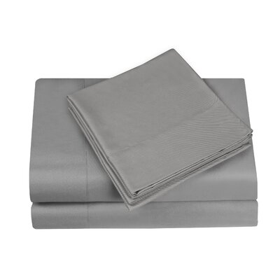 Gobert Sheet Set Color: Pewter, Size: King