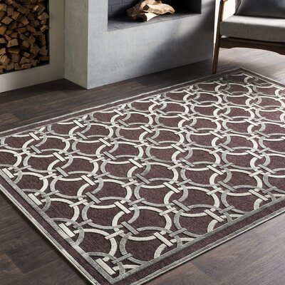 Ruggeweyn Brown/Gray Area Rug Rug Size: 52 x 76