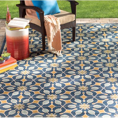 Lewis Navy Indoor/Outdoor Area Rug Rug Size: 710 x 106