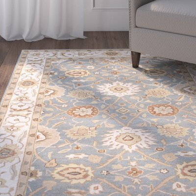 Trinningham Blue/Ivory Rug Rug Size: Rectangle 36 x 56